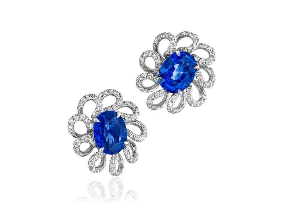 ceylon-sapphire-diamond-flower-earrings-high-end-jewelry-luxury-jewelry-hammerman-jewels